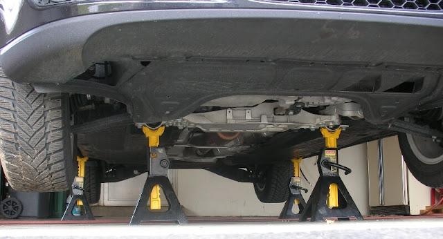 Comment mettre une voiture sur chandelles