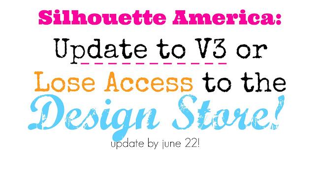 Silhouette Studio V3, update, design store