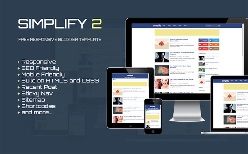 Simplify 2 - Responsive Blogger Template