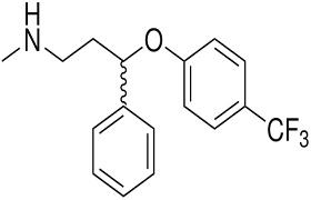 الصيغة الكيميائية لـ دواء فلوكسيتينا FLUOXETINA