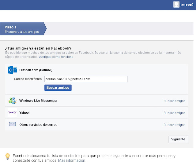 Registrar cuenta gratis en Facebook