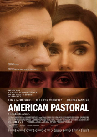 Poster of American Pastoral 2016 Full Movie HDRip 480p English 300Mb ESub