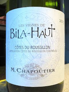 Les Vignes de Bila-Haut Côtes du Roussillon Blanc 2015 (88 pts)