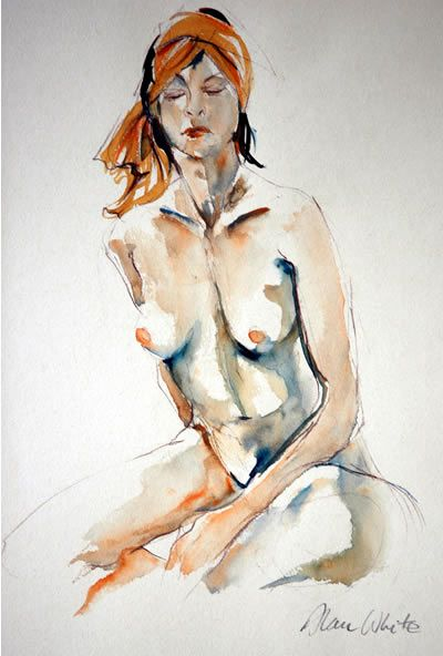 watercolor human figure
