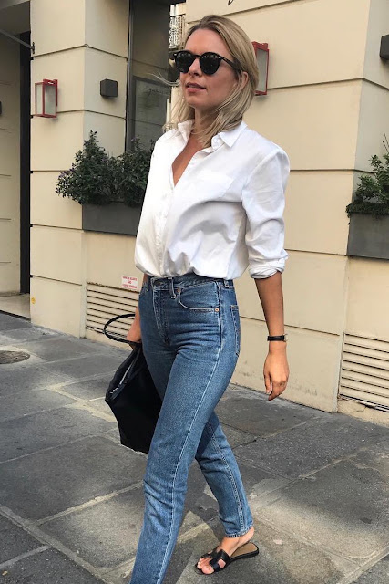 french girl jeans straight cut denim