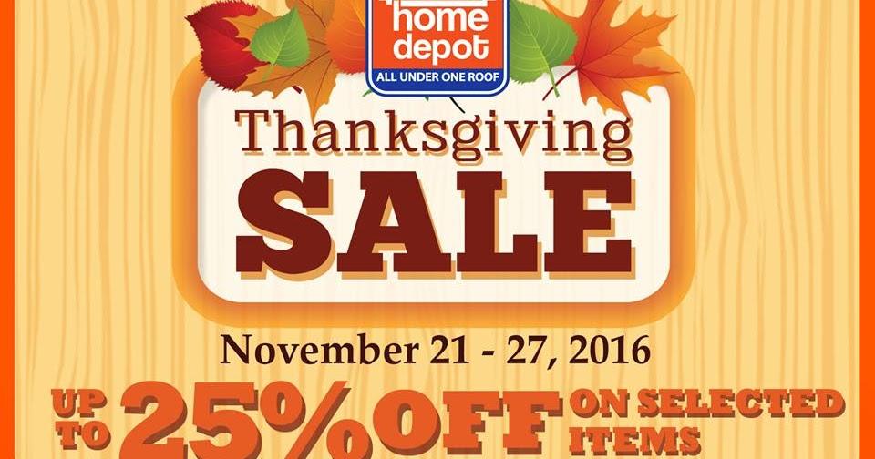 . Manila Shopper  CW Home Depot Thanksgiving SALE  November 2016