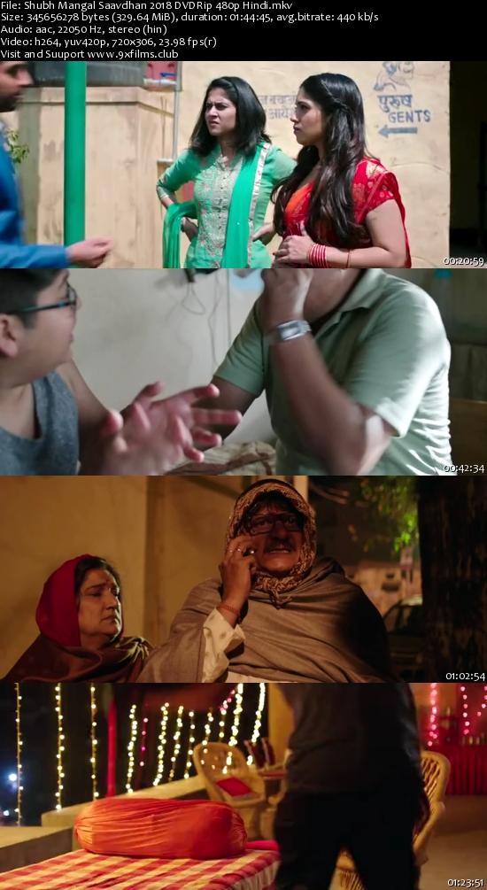 Shubh Mangal Saavdhan 2018 480p DVDRip Hindi 300MB