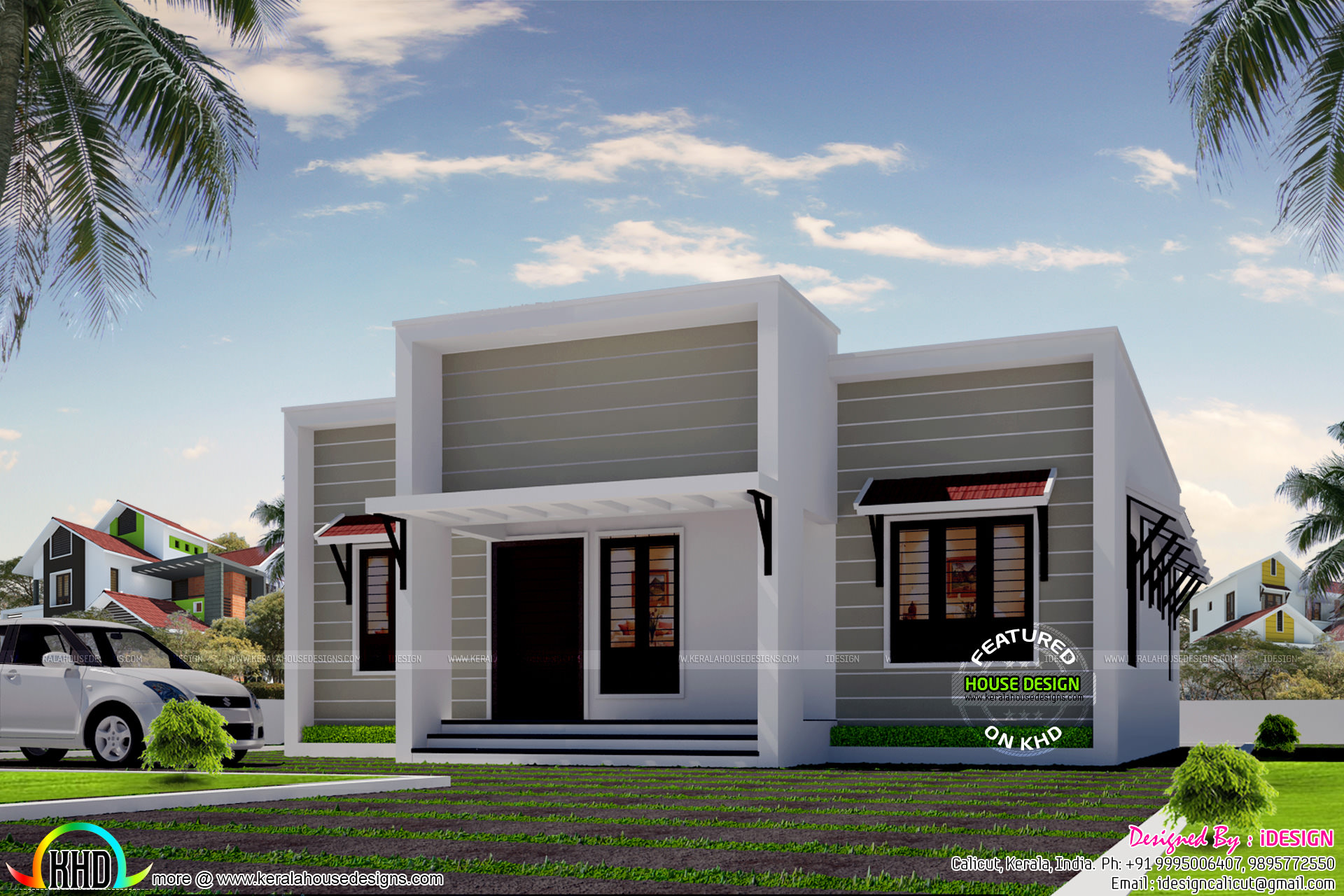 Ordinary CUTE MODERN SINGLE FLOOR HOME Part - 9: Cost U20b918 Lakhs Small Simple Modern House