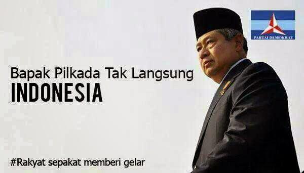 SBY dibully di media sosial dan diberi gelar bapak pilkada tak langsung oleh netizen