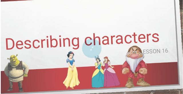 درس Describing characters