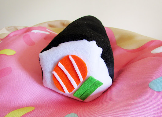 DIY Sushi Roll Pillow - The Small Adventurer