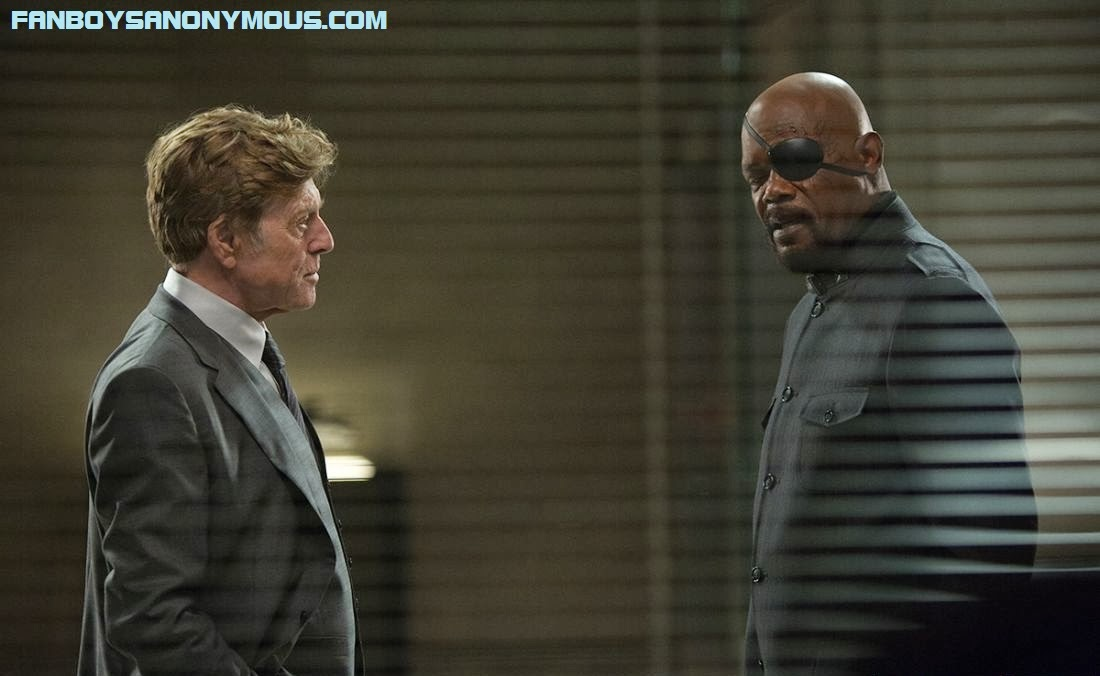 Robert Redford stars as director of SHIELD in Captain America 2 the Winter Soldier