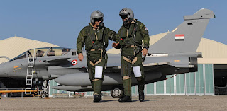 Egyptian air force dassault rafale pilots