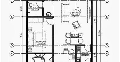 gambar denah rumah minimalis ukuran 8x15