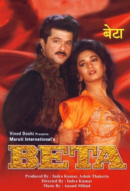 """Anil Kapoor and Madhuri Dixit inBeta (1992) Indian movie poster Anil Kapoor and Madhuri Dixit in Beta (1992) Movie Beta is an Indian Comedy melodrama film directed by Indra Kumar in 1992. The film is produced by Indra Kumar himself and Ashok Thakeria. It is starred by three actor and actress Anil Kapoor, Madhuri Dixit and Aruna Irani in the lead roles. In other supporting roles, Laxmikant Bedre, Anupam Kher, Priya Arun, Akash Khurana, Kunika, Adi Irani , Bharat Achrekar and some others have played. Beta is one of the most grossing films then in India. It's a comedy melodrama and most popular film. Especially, there are ten popular songs in the film. So, it's called musical drama. Many call it musical and comedy melodrama. Above all, """"Dhak Dhak Karne Laga"""" is the most popular song in the film. It's also one of the most popular and best songs in India. Actually, the film is an official remake. The film story is taken from the Kannada novel Mallammana Pavada written by B. Puttaswamayya. The first film, a Telugu movie is directed from this story in 1955. About ten films have been made based on this story. The Telugu film Ardhangi (1955) is directed by P. Pullaiah, The Tamil film Pennin Perumai (1956) is directed by P. Pullaiah, The Hindi film Bahurani (1963) is directed by T.Prakash Rao, The Kannada film Mallammana Pavaada (1969) is directed by Puttanna Kanagal, The Bengali film Swayamsiddha (1975) is directed by Sushil Mukherjee, the Hindi film Jyothi (1981) is directed by Pramod Chakravorty, the Tamil film Enga Chinna Rasa (1987) is directed by K. Bhagyaraj, then the Hindi film Beta (1992) is directed, The Telugu film Abbaigaru (1993) is directed by E.V.V. Satyanarayana, the Kannada film Annayya  (1993) isdirected by D. Rajendra Babu and the Oriya film Santana (1998) is directed by Mohammad Mohsin. All these films are made based on the same story from the Kannada novel. Beta (1992) is one of the great works of Indra Kumar. Actually, he directed several high grossing f"""