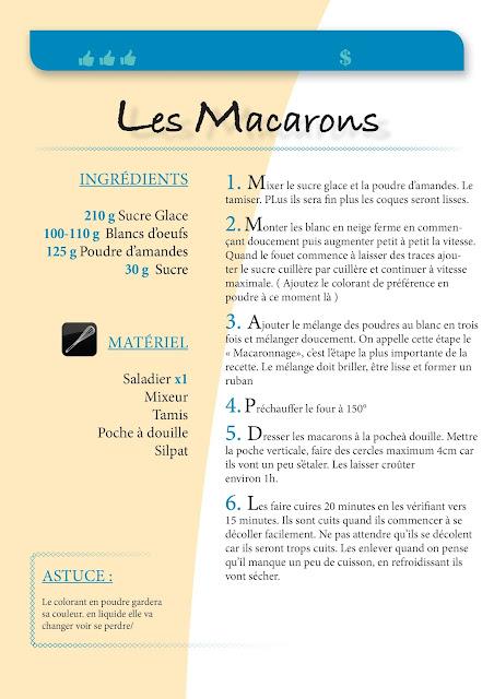 Ici je vous donne une recette de la base des coques de Macaron. A vous de les garnir et aromatiser avec ce que vous voulez