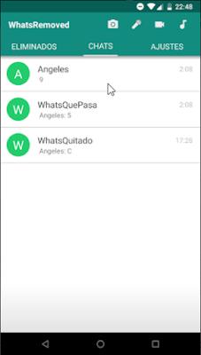 Configurar WhatsRemoved para recuperar mensajes de Whatsapp eliminados