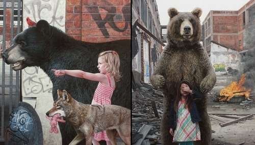 00-Kevin-Peterson-Children-Exploring-Hyper-Realistic-Paintings-www-designstack-co