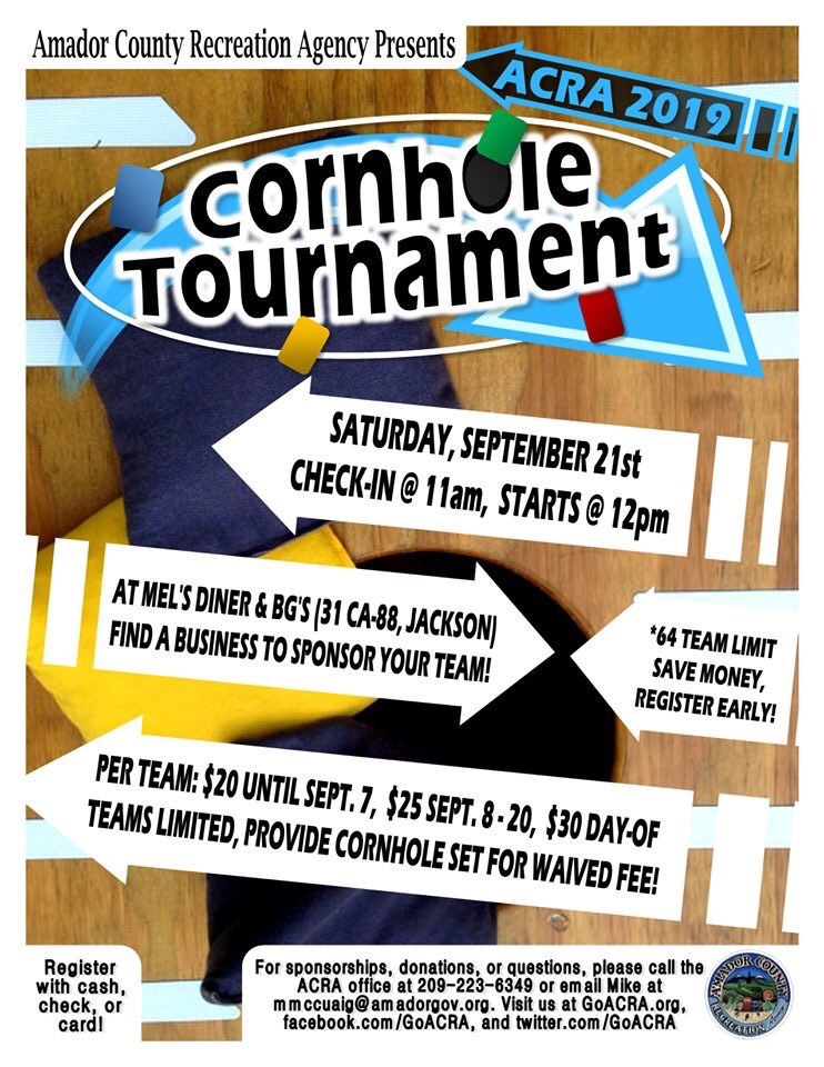 ACRA: Cornhole Tournament - Sat Sept 21