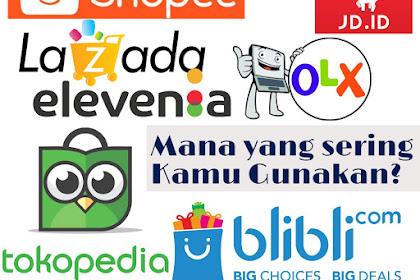 Dari 8 Situs Belanja Online Mana Yang Sering Kamu Gunakan?