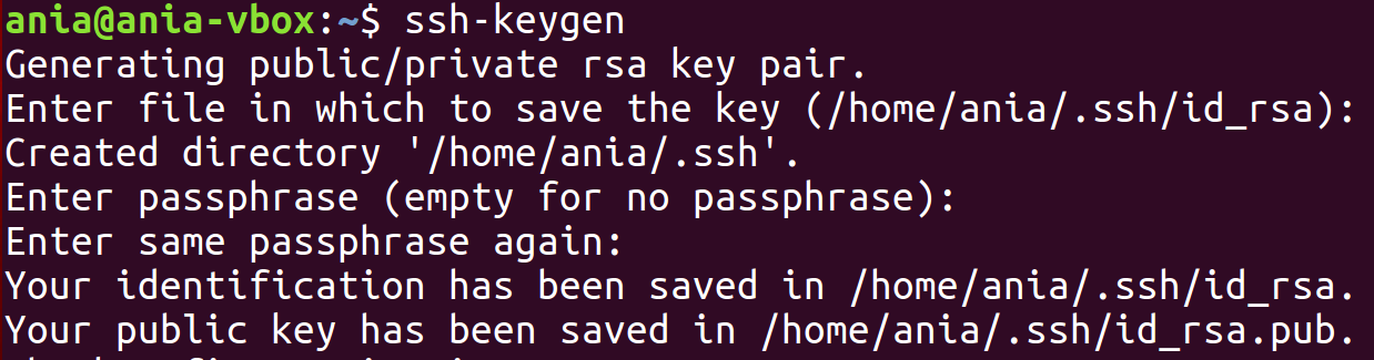 command to generate ssh key