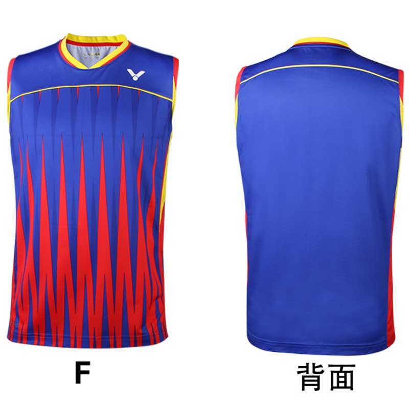 3d358aff6f0754 Victor Badminton Sleeveless Jersey 2016 Brazil Olympics Malaysia Men T-shirt  VICTOR T-6505