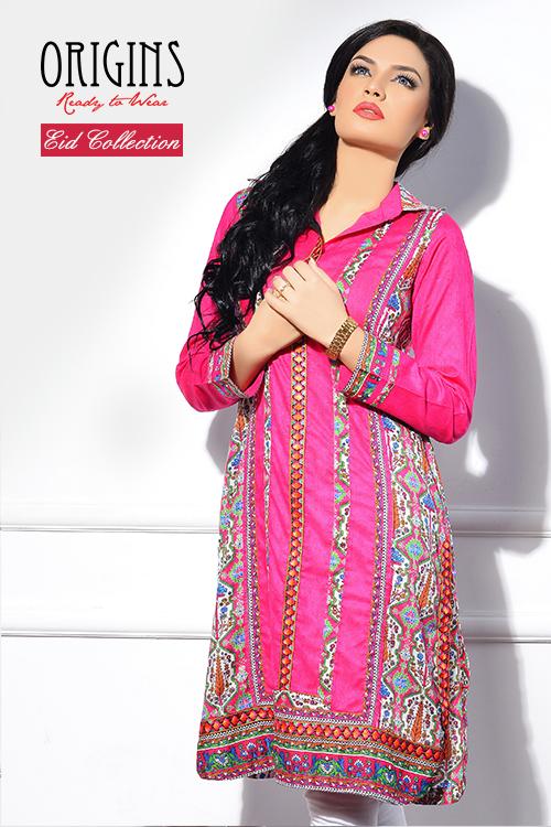 37e216467811 Eid-Ul-Azha Wear Full Sleeve Long Shirts 2014 For Girls By Origins ...