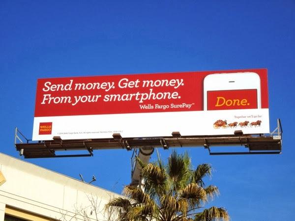 Wells Fargo SurePay billboard