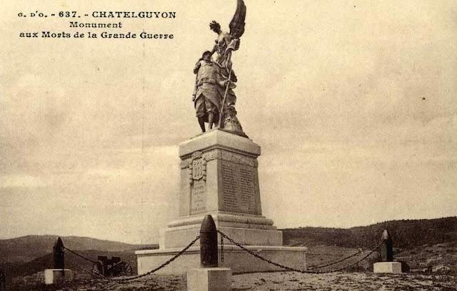 CPA monuments aux Morts du Puy-de-Dôme, Châtel-Guyon