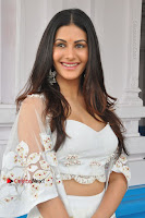 Telugu Actress Amyra Dastur Stills in White Skirt and Blouse at Anandi Indira Production LLP Production no 1 Opening  0062.JPG
