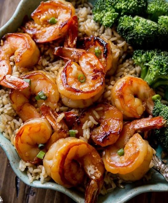 20 Minute Honey Garlic Shrimp #quick #easydinner