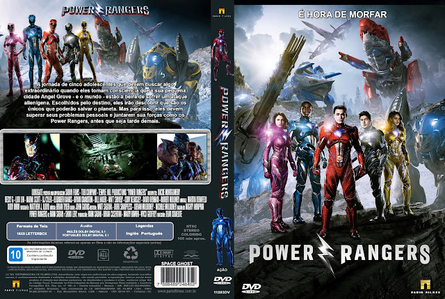 Capa DVD Power Rangers 2017