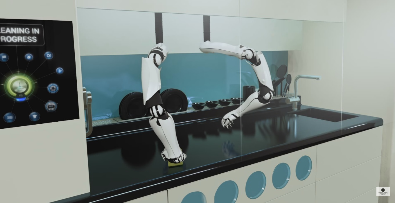 First Robotic Kitchen, Moley Kitchen, Moley Robotic, Future is Here