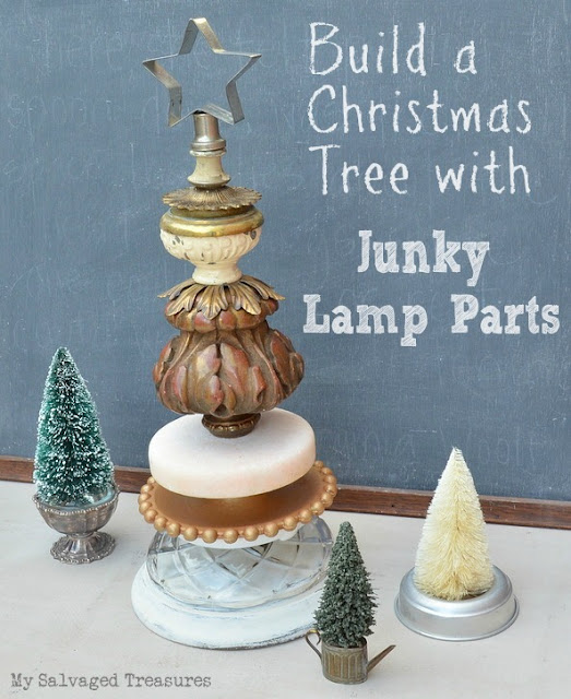 Build a Christmas Tree with Junky Lamp Parts