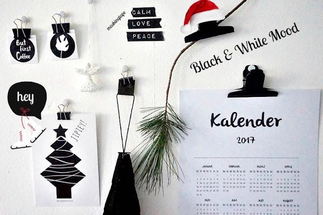 Kalender 2017 schwarz weiß