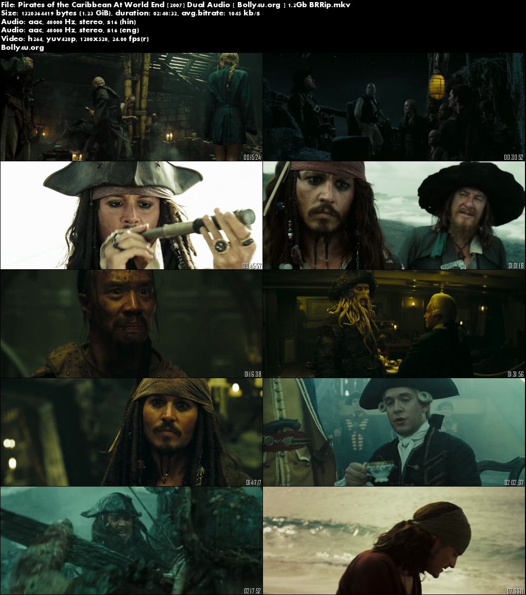 Pirates of the Caribbean: At Worlds End 2007 BluRay Dual Audio 500Mb Download