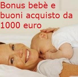 Assegno da 1000 euro e Bonus Bebè, ecco le novità della Legge di Stabilità