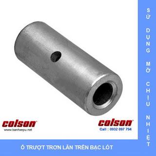 Bánh xe nhựa chịu nhiệt Colson 3 inch xoay khóa | A2-3346-52HT-BRK4 www.banhxeday.xyz