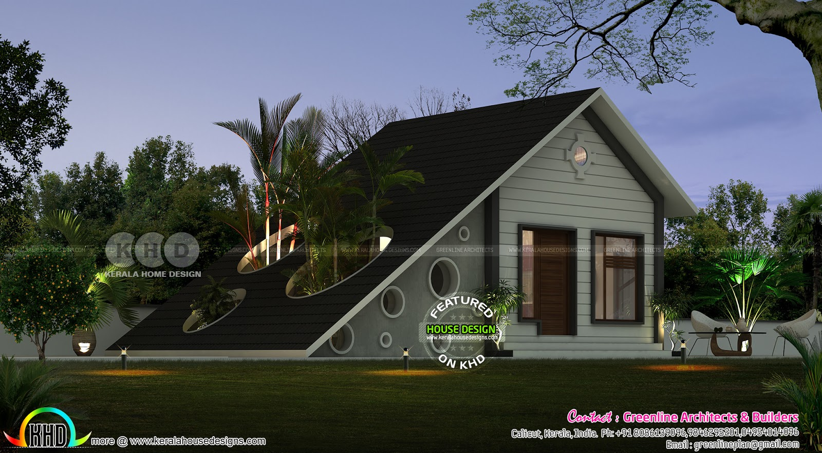 1 bedroom low cost home in in simple style kerala home for Tavoli design low cost