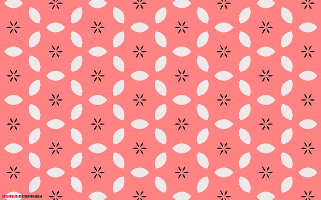 Mooie roze bureaublad achtergrond met wit en zwart patroon