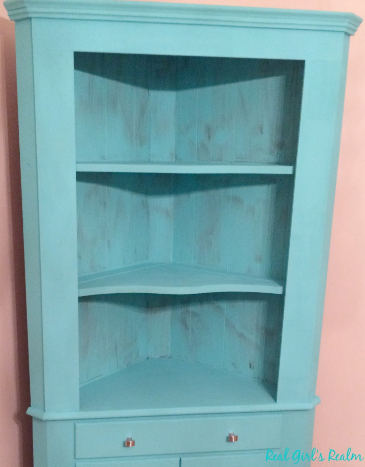 Real Girl\'s Realm: China Hutch Makeover