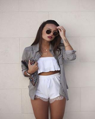 outfit tumblr de dos piezas blanco
