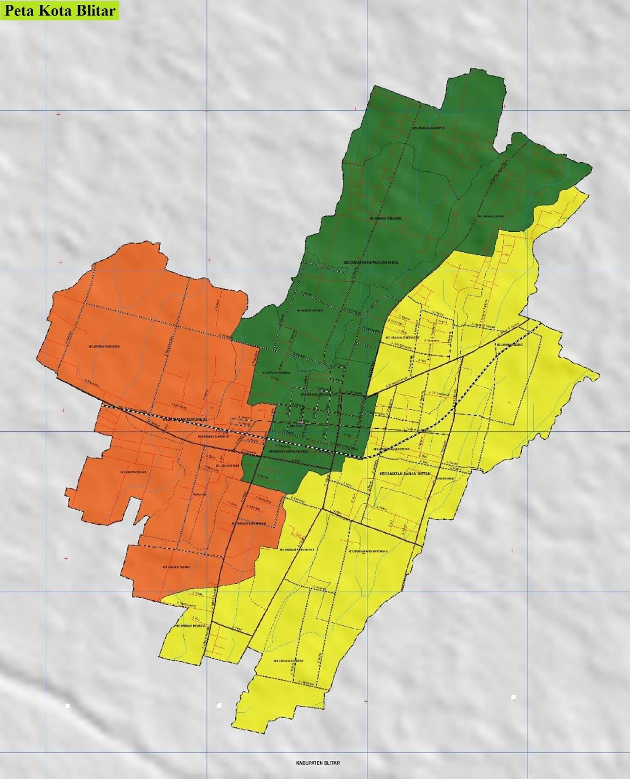 Peta Kota Blitar