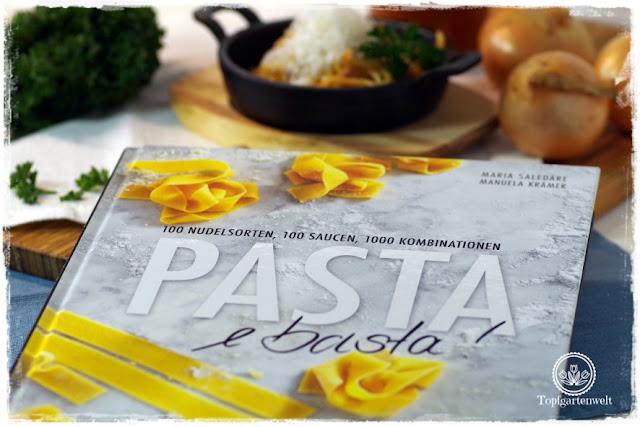 Gartenblog Topfgartenwelt Buchtipp Pasta e basta! Rezept: Spaghettoni all'amatriciana: italienische Nudeln selber mit der Nudelmaschine herstellen
