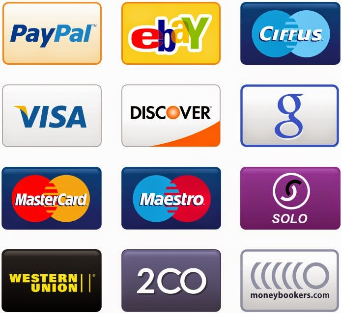 PNG Credit Card, Debit Card and Payment Icons Set