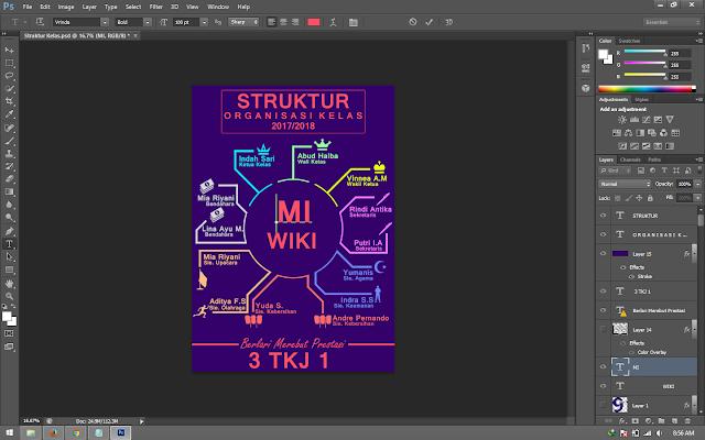 3 Desain Struktur Organisasi Sekolah Photoshop Keren ...
