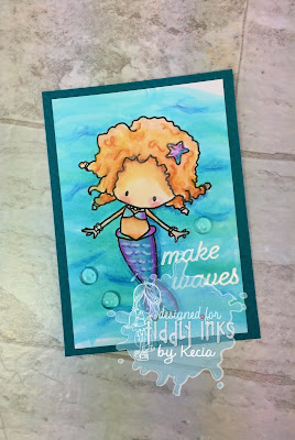 Tiddly Inks, Kecia Waters, Copic markers, mermaids, ATC