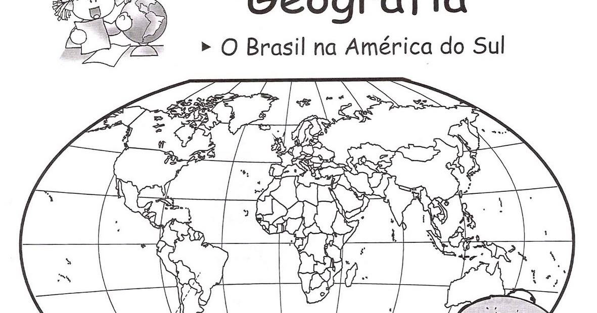 Atividades Com O Mapa Mundi Trabalhando Com Mapas Espaco Educar