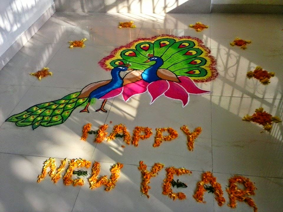 New Year 2015 Rangoli 2