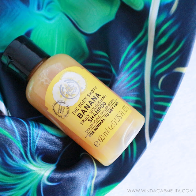 review banana shampoo the body shop